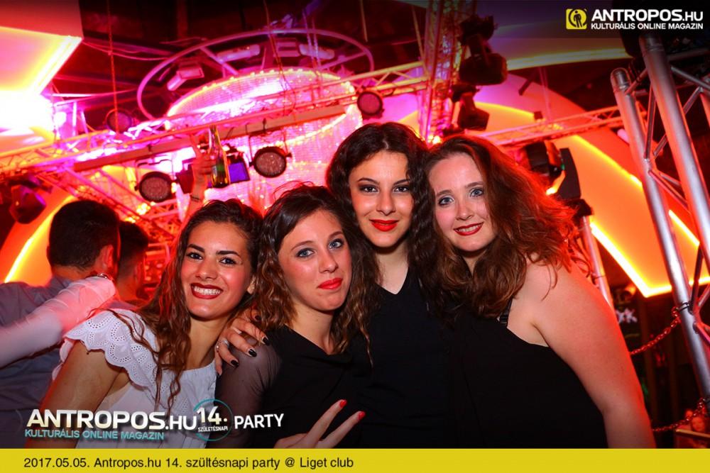 Antropos.hu 14. szültésnapi party /I. @ Liget club